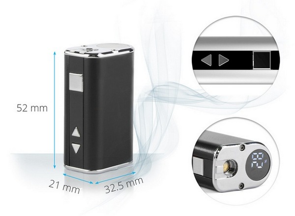 Электронная сигарета Eleaf Mini iStick (1050 mAh) в магазине vizitmarket.ru. Размеры.