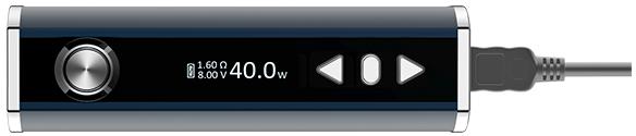 Электронная сигарета Eleaf iStick 40W TC (2600 mAh, 40 W) в магазине vizitmarket.ru зарядка